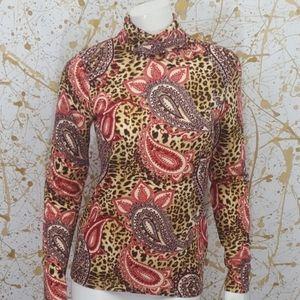 Jones New York turtle neck long sleeve blouse smal